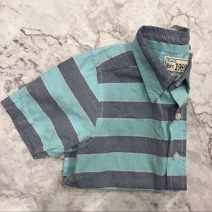 Children's Place Blue Striped Button Down Shirt
